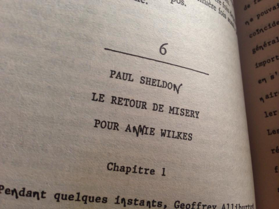 "Extrait de ""Misery"" de Stephen King"