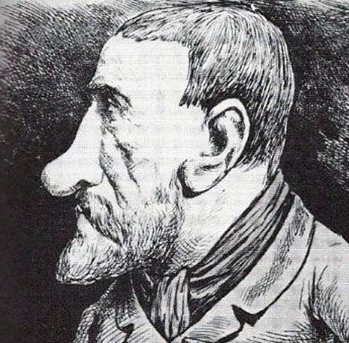 Louis Deibler caricature