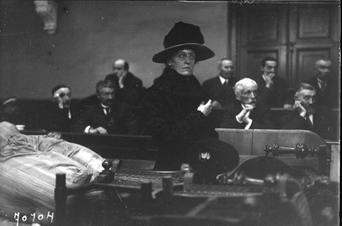 Mme Baziré au procès de Landru