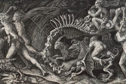 Lo Stregozzo, Le Sorcellag gravure de Marcantonio Raimondi et Agostino Veneziano (vers 1520, Musée des Offices)
