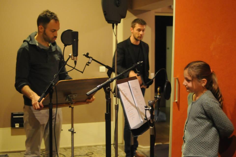 Enregistrement dans les studios de Radio France
