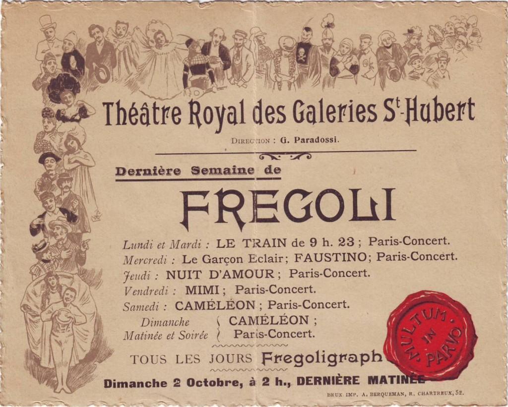 Fregoli au Théâtre Royal