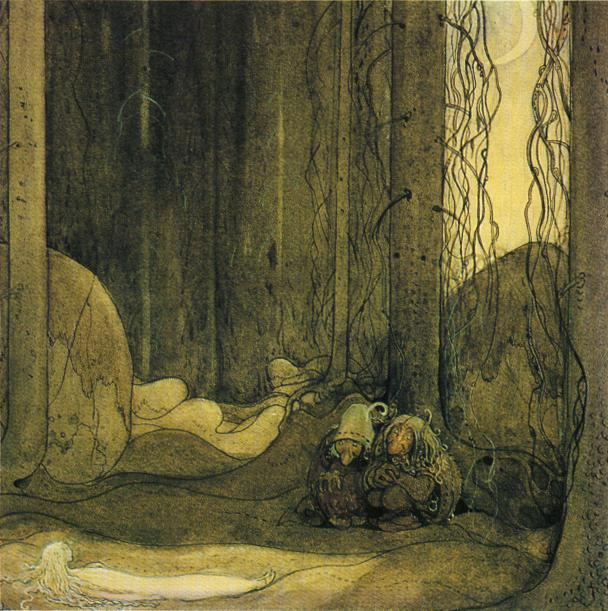 """The Changeling"", John Bauer, 1913"