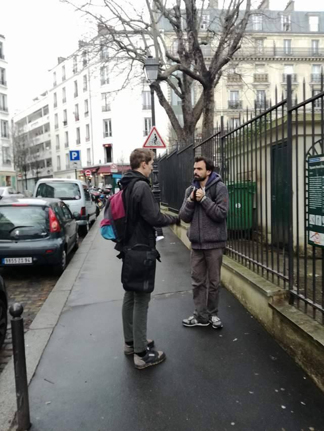 """Thibaut Villar et Maxime Gridelet sur le tournage de """"Raconte"""""""