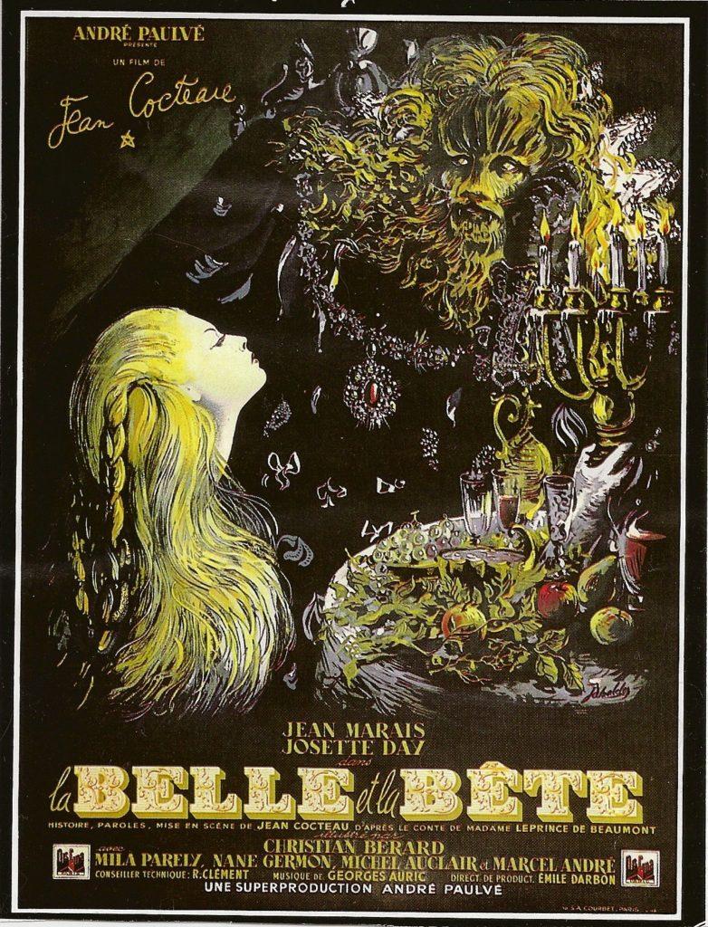 Affiche du film La Belle et la Bête de Cocteau