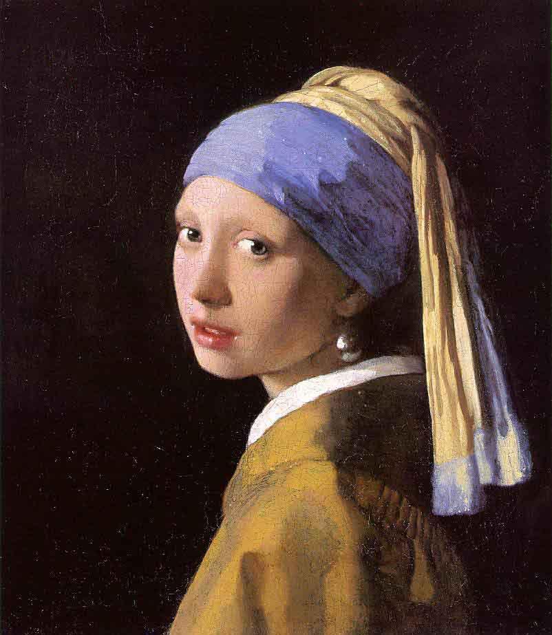 """Jeune fille à la perle"" de Johannes Vermeer (1665)"