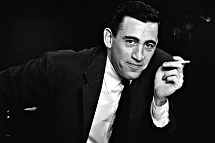 "SAN DIEGO - NOVEMBER 20, 1952: ***EXCLUSIVE - CALL FOR IMAGE*** JD Salinger poses for a portrait as he reads from his classic American novel ""The Catcher in the Rye"" on November 20, 1952 in the Brooklyn borough of New York City. Salinger died on January 27, 2010.  (Photo by Antony Di Gesu/San Diego Historical Society/Hulton Archive Collection/Getty Images) *** Local Caption *** JD Salinger"